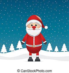 santa clause figure stars winter