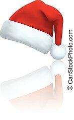 Santa clause hat vector