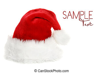 Santa Clause Hat With Copyspace on White Background