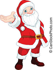 Santa Clause Presents - Cute Santa Clause with his arm...