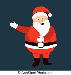 Santa Clause ready for christmas.