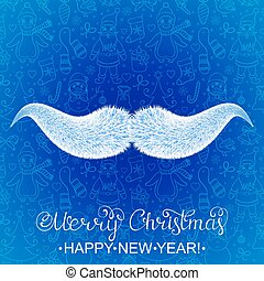 Santa Claus's mustache
