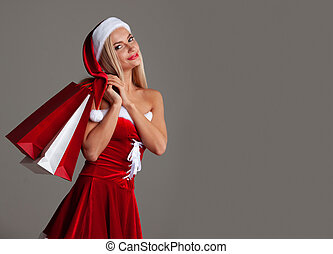 santa costume, girl, claus, achats