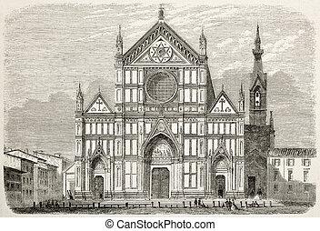 Santa Croce - Basilica of Santa Croce restoration old...