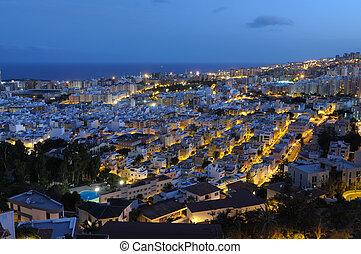 Santa Cruz de Tenerife at night. Canary Islands Spain
