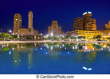 Santa Cruz de Tenerife at Plaza de Espana night - Blue night...