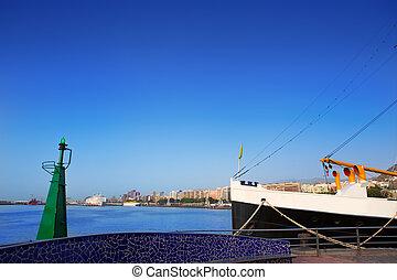 Santa Cruz de Tenerife harbor at Canary Islands