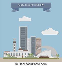 Santa Cruz de Tenerife, Spain - Santa Cruz de Tenerife, city...