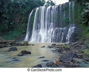 Santa Cruz falls near Kapatagon city Mindanao island of...