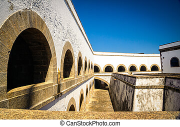Santa Cruz Fortress - Courtyard of a fortress, Santa Cruz...