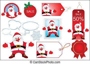 Santa design elements