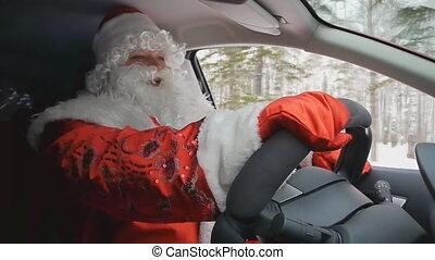 Santa driving 1