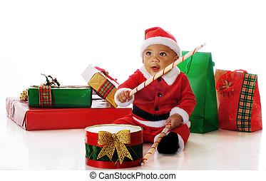 Santa Drumming