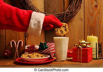 Santa Dunking Cookie