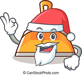 Santa dustpan character cartoon style