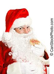 Santa Eating Christmas Cookie