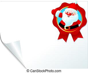 Santa emblem page