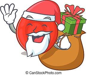 Santa erythrocyte cell Cartoon character design having box ...
