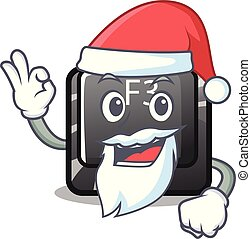 Santa f3 button installed on cartoon computer