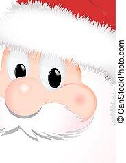 Santa Face close up