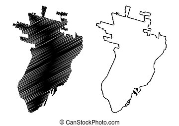 Santa Fe City (Argentine Republic, Santa Fe Province) map ...