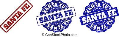 SANTA FE Grunge Stamp Seals