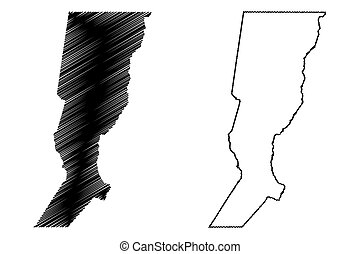 Santa Fe (Region of Argentina, Argentine Republic, Provinces of Argentina) map vector illustration, scribble sketch Santa Fe Province map