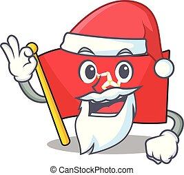 Santa flag isle of man with cartoon