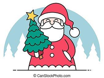 Santa Flat Design