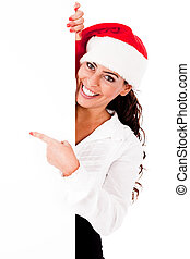 santa, girl, conseil blanc, pointage