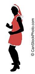 Santa girl dancing