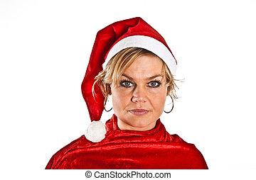 Santa girl with hat