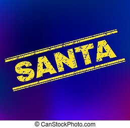 SANTA Grunge Stamp Seal on Gradient Background