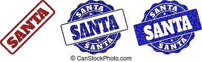 SANTA Grunge Stamp Seals