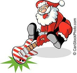 santa guitar smash - Santa smashing his candy cane guitar! ...