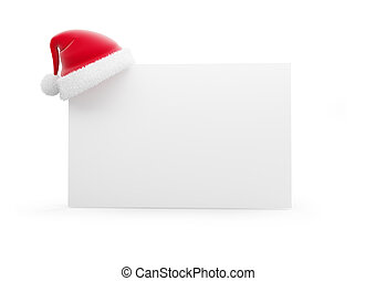 santa hat 3d isolated on white - santa hat 3d isolated on a...