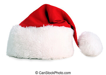 A red santa hat isolated with clipping path