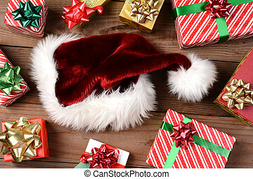 Santa Hat and Presents