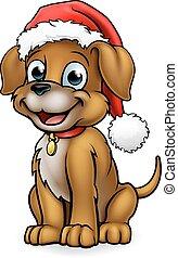 Santa Hat Christmas Dog