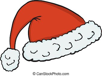 Santa hat icon isolated on white background