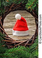 Santa hat in Christmas setting