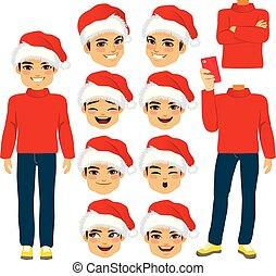 Santa Hat Man Costume