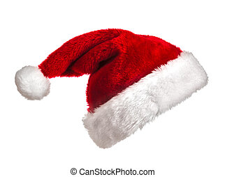 Santa hat on white - Santa Claus hat isolated on white ...