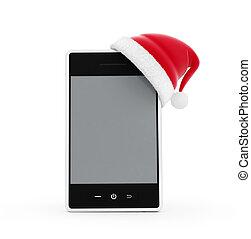 santa hat phone