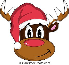 Santa Hat Rudolph the Reindeer