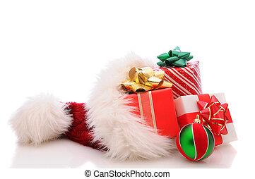 Santa Hat with Presents