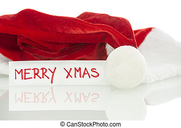 Santa hat with season greetings