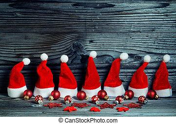Santa hats, Christmas decoration