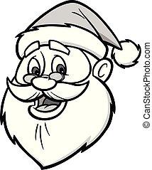 Santa Head Illustration