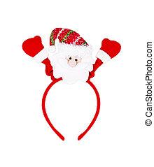 santa headband isolated on white background